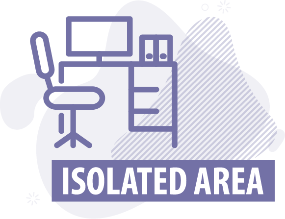 Isolated area