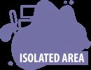 Isolated area